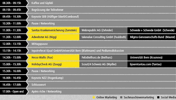 Programm der Online Marketing Konferenz 2013